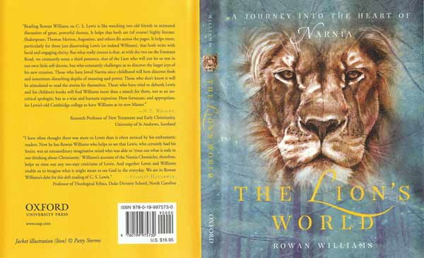 The Lion's World by Rowan Williams - book cover drawing by Patty Storms